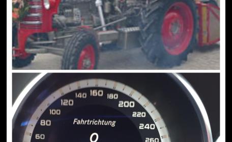 Traktoren konnten nicht mithalten...